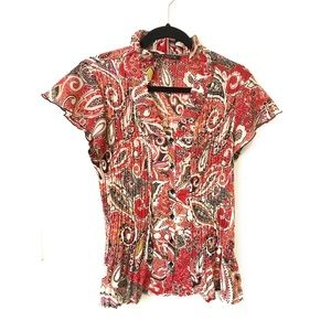 Zac & Rachel red pattern blouse